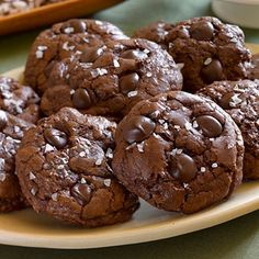 Ghirardelli Baking: Chocolate Truffle Cookies with Sea Salt Recipe #cookieexchange