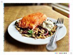 Toast: Salmon & Cypriot Salad with Farro, Smoked Yoghurt & Preserved Lemons #recipe