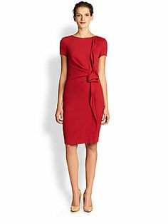 Escada Dirtes Ruffled Wool Dress