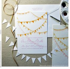 15. Hand painted bunting