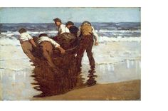 Paul Henry, 'Launching the Currach', 1910-11.
