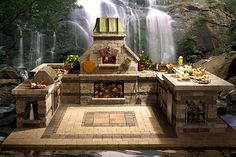 Outdoor kitchens..........WOW