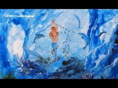 Mermaid Underwater – Acrylic Painting on Canvas idea for Beginners