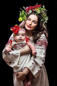 Mother and Child - Ukraine, from Iryna Ukraine, Folklore, Fotografia Retro, Folk Costume, Costumes, Kind Photo, Ethno Style, Ukrainian Art, Ukrainian Dress