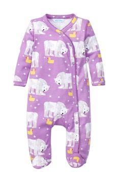 Polar Bears & Ducks Kimono Footie (Baby Girls) by Jaxxwear on @nordstrom_rack