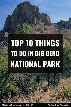 Top lodging spots with Texas hospitality. Great tips and tricks for traveling with kids. Hike The South Rim Trail and capture some amazing photography. Top 10 Things To Do In Big Bend National Park. Santa Elena Canyon is a 1,500-foot tall canyon entrenching a large section of the Rio Grande River, and one of Big Bend National Park's most impressive landmarks. Giant Boulder, Thing 1, Best Hikes, Travel Planner, Rio Grande, Stargazing, Natural Wonders, Travel With Kids, Hot Springs