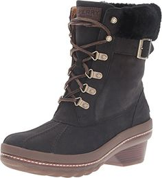 Sperry TopSider Womens Gold Cup Ava Lined Waterproof Ankle Boot Black 7 M US *** Check out the image by visiting the link.