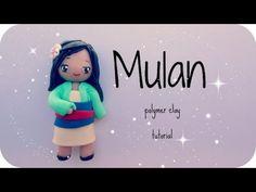 ❤ Mulan - Fimo tutorial ❤ Sculpey Clay, Polymer Clay Dolls, Polymer Clay Charms, Polymer Clay Creations, Cold Porcelain Tutorial, Homemade Clay, Cute Clay, Clay Miniatures, Clay Tutorials