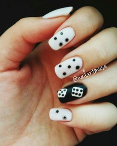 Dice nail art! Watch my tutorial on my blog and yt channel!