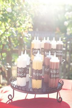 Wedding Carnival Gourmet Hot Dog Bar by yourhomebasedmom, via Flickr