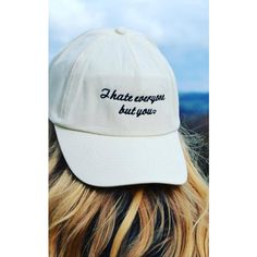 61943666849 Emma Warren I Hate Everyone but You Slogan Embroidered 90s Style Cap ( 30) ❤
