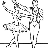 Desenho de Casal dançando balé para colorir Ballet Crafts, Dance Crafts, Printable Crafts, Printables, Sleeping Beauty Ballet, Free Printable Coloring Pages, Coloring Books, Cartoon, Drawings