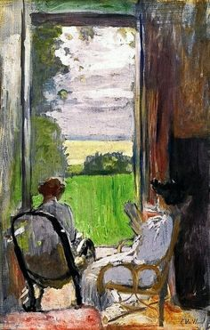 Books and Art. Lucy Hessel and Jeanne Strauss at Étincelles Edouard Vuillard (French, Oil and gouache on card. Edouard Vuillard, Art And Illustration, Art Amour, Inspiration Art, Post Impressionism, Woman Reading, Gustav Klimt, Henri Matisse, Matisse Art