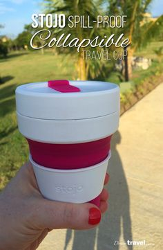 Gone are the bulky travel mugs and cups. I've added this Stojo spill-proof collapsible travel cup to my must-have travel accessories and here is why. | Travel Accessories | Review | Collapsible Travel Cup | Travel Mug | Travel Friendly Accessories | Travel Gear Review |