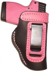 Beckys Pink Leather Holster - Why carry a pistol or Revolver and not have accessories to match - and why carry some black or brown plain looking holster if your not a plain sort of gal?