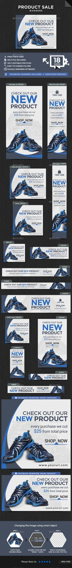 Product Sale Banners — Photoshop PSD #banner set #metro design • Available here → https://graphicriver.net/item/product-sale-banners/15930191?ref=pxcr