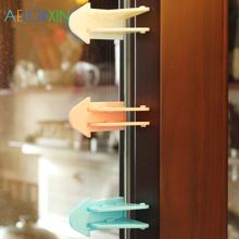 3pcs Lot Defending Child Security Safety Lock For Sliding Door Lock Latch Sliding Window Lock Baby Security Safety From Baby