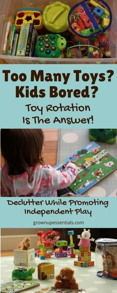 Reduce Toy Clutter And Promote Independent Play With Toy Rotation Toddler Preschool, Toddler Toys, Preschool Activities, Kids Toys, Toddler Daycare, Craft Stick Crafts, Crafts For Kids, Daycare Crafts, Daycare Ideas
