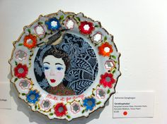 Plate up cycled china collage by Adrienne Geoghegan Upcycle, Mixed Media, Decorative Plates, Collage, China, Home Decor, Collages, Decoration Home, Upcycling