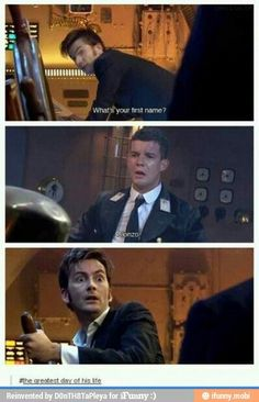 """Allons-y, Alonso!"" An awesome moment from 'Doctor Who' David Tennant tenth Doctor Who, 10th Doctor, Twelfth Doctor, Fandoms Unite, David Tennant, Tardis, Sherlock, Serie Doctor, My Sun And Stars"