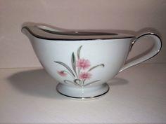Noritake Regina Creamer Mint Green Pink Flower by yolandasGiftShop