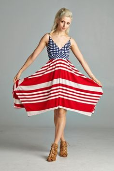 Beautiful Red White and Blue Dress. Perfect for 4th of July