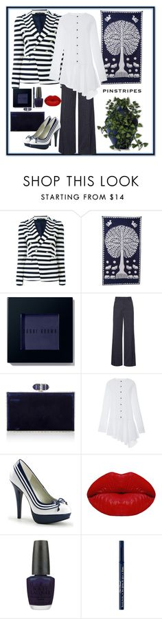 """Rockin' The Navy"" by loves-elephants ❤ liked on Polyvore featuring Tagliatore, Cultural Intrigue, Bobbi Brown Cosmetics, Marc Jacobs, Judith Leiber, Winky Lux, OPI, Too Faced Cosmetics and Crate and Barrel"