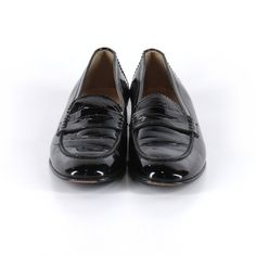 J. Crew patent loafers Slip-on loafers  Material: patent leather upper (black)  Condition: excellent, slight wear and tear on sole/outside bottom (but top is like new!) J. Crew Shoes Flats & Loafers