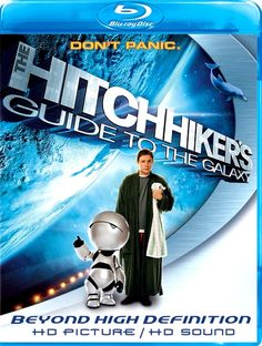 "hitchcock guide to the galaxy(2005) -Mere seconds before the Earth is to be demolished by an alien construction crew, journeyman Arthur Dent is swept off the planet by his friend Ford Prefect, a researcher penning a new edition of ""The Hitchhiker's Guide to the Galaxy."""