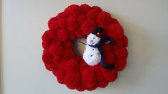 Ravelry: Cravitz's Pom Pom Wreath with Snowman