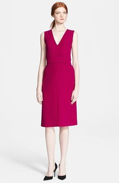 Victoria, Victoria Beckham Wool Crepe Midi Dress available at #Nordstrom