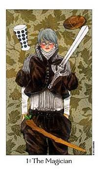 The meaning of The Magician from the Dreaming Way Tarot deck: Be creative and stay open -- your possibilities are endless. The Magicians, Le Bateleur, The Magician Tarot, Le Tarot, Tarot Major Arcana, Tarot Card Decks, Korean Artist, Oracle Cards, Deck Of Cards
