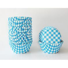 gingham cupcake liners - for muffins and cupcakes
