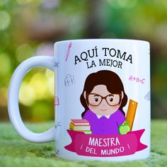 Here is the best templates for sublimation cups-sublimation Mugs-sublimation templet-professions-Crafts-Pack N 1 Teacher Cards, Teacher Gifts, Sublimation Mugs, Glitter Cups, Teachers' Day, Gifts In A Mug, Gift Mugs, Baby Bottles, Valentines Diy