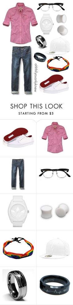 """""""Untitled #94"""" by ohhhifyouonlyknew ❤ liked on Polyvore featuring Vans, Hollister Co., Quiksilver, Cutler and Gross, adidas Originals, dyke, my style, vans, my creations and adidas"""