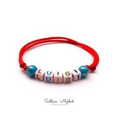 Message Logo, Messages, Luigi, Bracelets, Jewelry, Special Person, Acrylic Beads, Bracelet Patterns, Initials