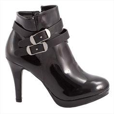 Botine dama cu barete 92437NEGRU-PT - Reducere 50% - Zibra Mary Janes, Booty, Ankle, Flats, Shoes, Fashion, Loafers & Slip Ons, Moda, Swag