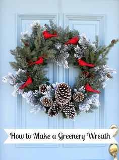 How to Make a Christmas Wreath - It's that time of year! Time to get those front doors ready to welcome our guests! This is a simple wreath that can be made in…
