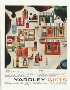 "Vintage 1958 Yardley Gifts Ad ""The Best Christmas Trees"" 