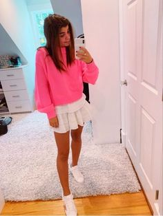 Preppy Skirt Outfits, Preppy Outfits For School, Cute Summer Outfits, Girly Outfits, Cute Casual Outfits, Pretty Outfits, Fashion Outfits, Preppy Clothes, Beautiful Outfits
