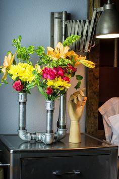 Galvanized Pipe Vase