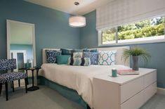 ideas for diy furniture bedroom headboard small spaces Corner Headboard, Bedroom Corner, Small Room Bedroom, Trendy Bedroom, Small Rooms, Home Bedroom, Small Spaces, Bedroom Decor, Bedroom Ideas