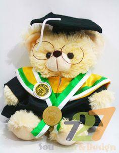 Souvenir boneka teddy bear wisuda : Souvenir Boneka Teddy bear Wisuda Medium 28cm