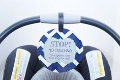 Preemie Don't touch my baby car seat tag for newborns, preemies and micro preemies. Great baby shower gift. Hangs on Car seat. www.tags4tots.com