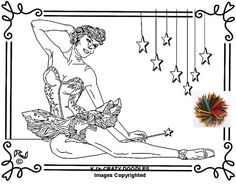Ballerina Music Box Adult Coloring Page by AmeliasArtCorner AND