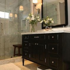 Black Vanity, Contemporary, bathroom, Jeff Lewis Design