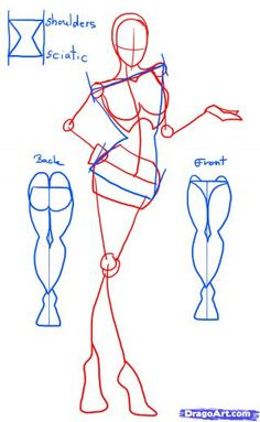 Step 1. How to Draw Female Figures, Female Figures