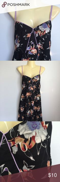Xhilaration dress Size small 100% rayon dress with adjustable straps elastic back has some give. Two hidden side pockets. Unlined. Lightweight Xhilaration Dresses