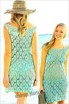 modré šaty Crochet Woman, Knit Crochet, Knit Dress, Crochet Dresses, Winter Accessories, Short Skirts, Cover Up, Knitting, Casual