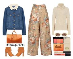 """""""Denim Jacket Contest"""" by juliehalloran ❤ liked on Polyvore featuring MANGO, Louis Vuitton, Bamboo, Triumph & Disaster, Elizabeth and James, MICHAEL Michael Kors, NARS Cosmetics and Smashbox"""